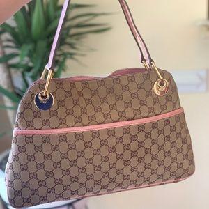GUCCI Monogram Medium Eclipse Shoulder Bag Pink